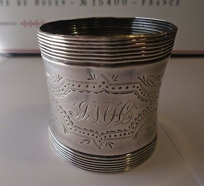 Vintage  SILVER PLATE ?? NAPKIN RING MARKED  S 755