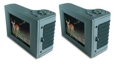 """(2) MOULTRIE Hand Held Game Camera Digital Picture Viewers w/ 2.8"""" LCD 