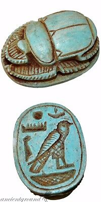 Museum Quality Circa 1500-900 Bc Glazed Pendant Bead Seal Scarab