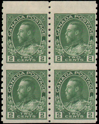 Canada #128a MLH VF block of 4