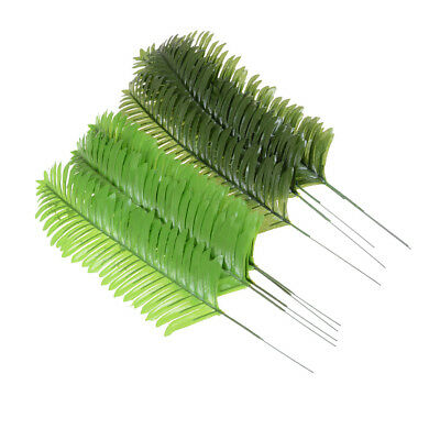 5X Lifelike Artificial Green Palm Branch Leaves Wedding Party Home Decor 38cm DS