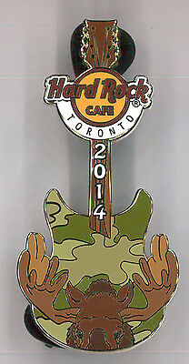 Toronto Hard Rock Cafe pin - camo moose Canada - HRC badge Closing