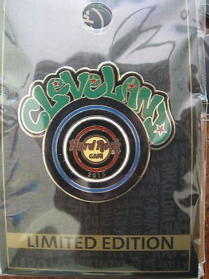 Cleveland Hard Rock Cafe pin - Retro Album - LE HRC badge Closed
