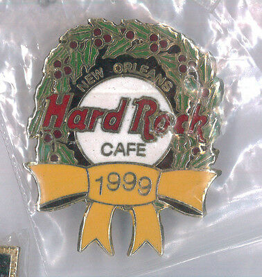 Hard Rock Cafe pin - New Orleans Christmas 1999 - HRC badge
