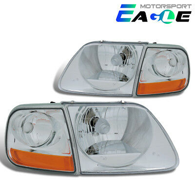 1997 1998 1999 2000 2001 2002 2003 Ford F150/Expedition Chrome Headlights Set