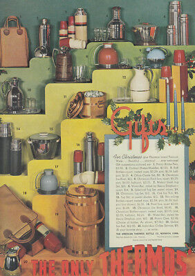 For Christmas give Thermos brand Vacuum Ware ad 1939  bottle