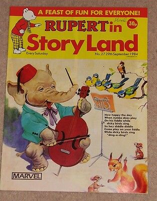 RUPERT BEAR COMIC RUPERT IN STORYLAND NO. 27 DATED 29th SEPTEMBER 1984