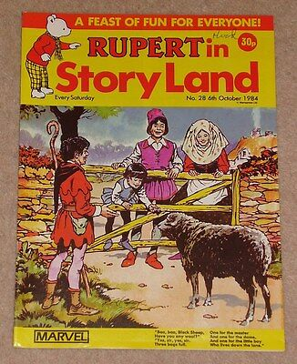 RUPERT BEAR COMIC RUPERT IN STORYLAND NO. 28 DATED 6th OCTOBER 1984