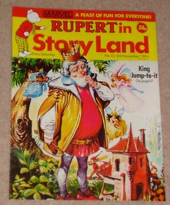 RUPERT BEAR COMIC RUPERT IN STORYLAND NO. 32 DATED 3rd NOVEMBER 1984