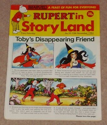 RUPERT BEAR COMIC RUPERT IN STORYLAND NO. 33 DATED 10th NOVEMBER 1984