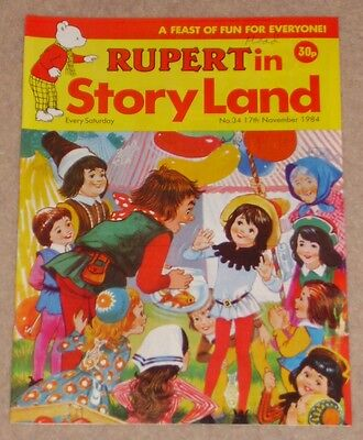RUPERT BEAR COMIC RUPERT IN STORYLAND NO. 34 DATED 17th NOVEMBER 1984