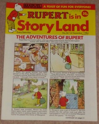 RUPERT BEAR COMIC RUPERT IS IN STORYLAND NO. 36 DATED 1st DECEMBER 1984