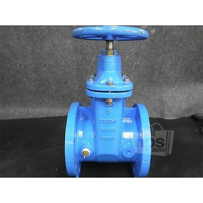 Watts 0700106 405 6In Flanged Gate Valve 200Psi Bolt Pattern 8 x 9-1/2In*