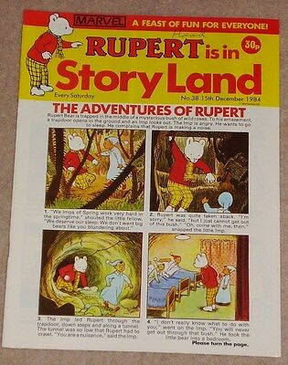 RUPERT BEAR COMIC RUPERT IS IN STORYLAND NO. 38 DATED 15th DECEMBER 1984