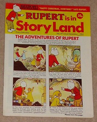 RUPERT BEAR COMIC RUPERT IS IN STORYLAND NO. 39 DATED 22nd DECEMBER 1984