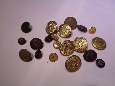 Vintage Mixed Lot of Military Buttons