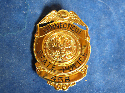 Police Badge Connecticut State Police - Trooper - William & Anderosn