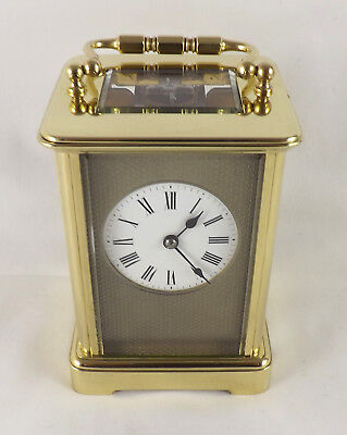 Excellent Antique Carriage Clock With Silvered Masked Dial - Cleaned & Serviced