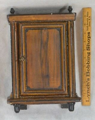 cabinet cupboard paint folky table top hang small 12 in. sewing shaving antique