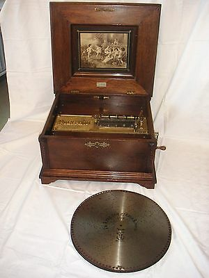 Polyphon mit Doppelkamm D 39,5cm automaton antique crank music box disc 15 1/2""