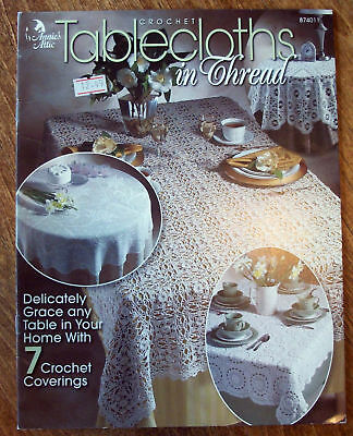NEW ANNIES ATTIC Crochet TABLECLOTHS IN THREAD Pattern Book OOP