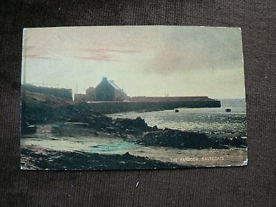 Old 1904 Postcard, The Harbour, Saltcoats, Ayrshire, Scotland