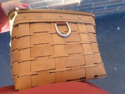 Longaberger  Medium Stack And Store Basket With Wood Lid