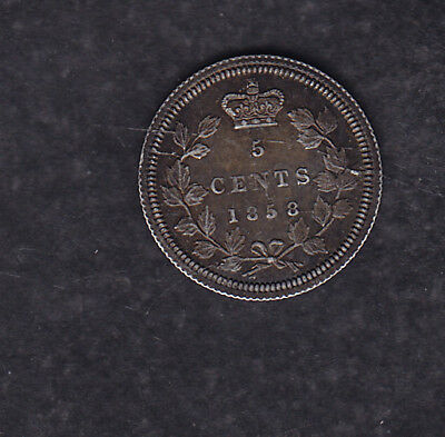 1858 Canada Silver 5 Cents