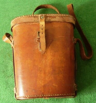 Vintage Binoculars Leather Case British Army Military Tank Wwii Date 1942