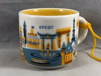 Disney Starbucks Epcot You Are Here Ornament Mug Cup 3rd Edition