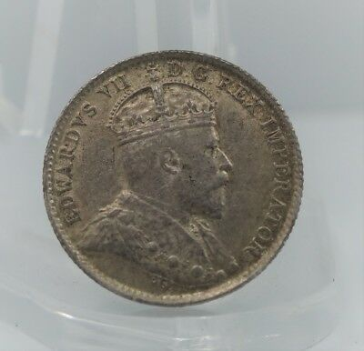 1902 Canadian Canada 5 Cents Silver Coin 5c -You Grade It Z34