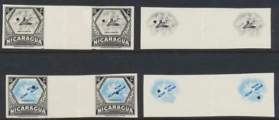 "NICARAGUA 1954, 15 & 50c AIRS ""WATERLOW IMPERF PROOFS"" VF NH OG Sc#C347/51"