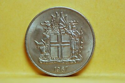 Iceland, 1967 Krona, About UNC+, No Reserve,                                 221
