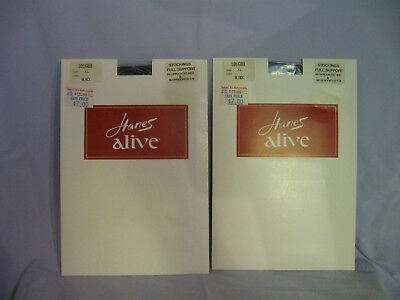 Hanes Alive Full Support Stockings Size XL 10 1/2 - 11 Black   X 2