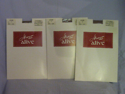 Hanes Alive Full Support Stockings Size XL 10 1/2 - 11 BARELY THERE X 3