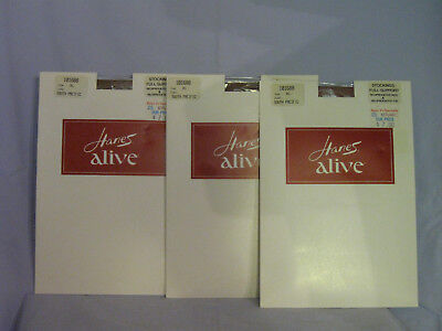 Hanes Alive Full Support Stockings Size XL 10 1/2 - 11 SOUTH PACIFIC X 3