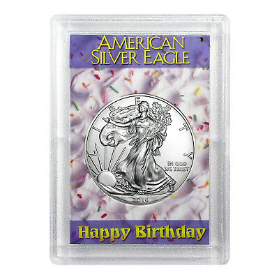 2016 $1 American Silver Eagle HE Harris Holder - Birthday Design