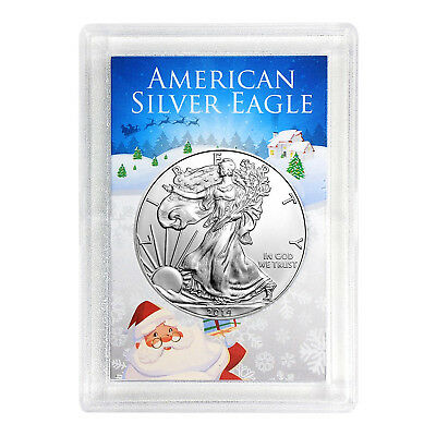 2014 $1 American Silver Eagle HE Harris Holder - Santa Design