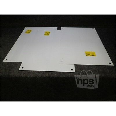Lot of 3 Hoffman A24N16MP Enclosure Panel for Medium Type 1 Enclosure, White