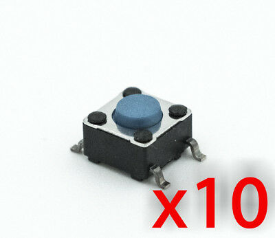 10x Tactile Push Button Momentary Switch 6x6x4.3 SMD SMT Round PCB 4 pin 10pcs