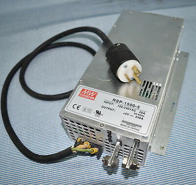 Mean Well / Powernex RSP 1500-5 +5V 240A Output AC/DC Switching Power Supply