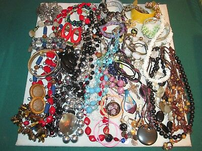 61 Piece Lot Of Vintage To Modern Costume Jewelry, Necklaces, Bracelets, & More!