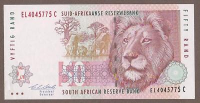 1992 South Africa 50 Rand Note  Unc