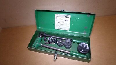 "GREENLEE 1806 Ratcheting Knockout Punch Kit 1/2'' thru 2"" Steel Case"