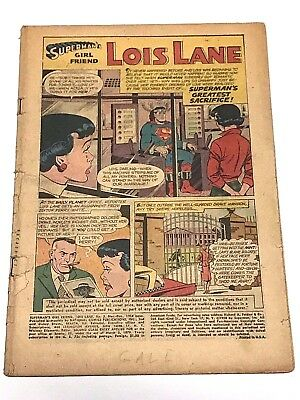 Lois Lane#5 Coverless 1959 Dc Silver Age Comics