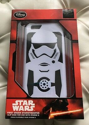 Disney Store Storm Trooper iPhone6 case Includes Screen Protector & Cloth New