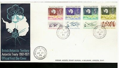 "1971 British Antarctic Territory #39-42 FDC ""Argentine Islands, Grahamland"" CDS"