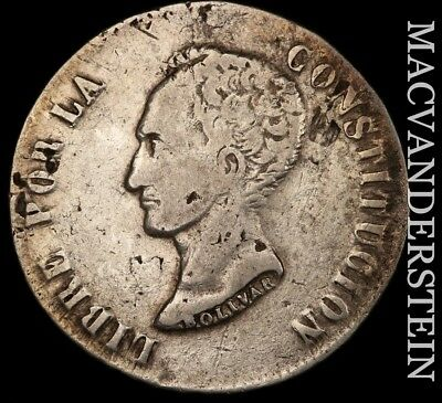 Bolivia: 1850 Eight Soles- Scarce !! Better Date !! #h4397