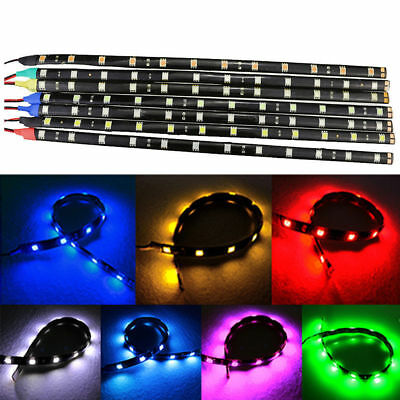 30cm Waterproof Car Auto Flexible LED Strip Light 15SMD 12V 3528 Decorative DRL