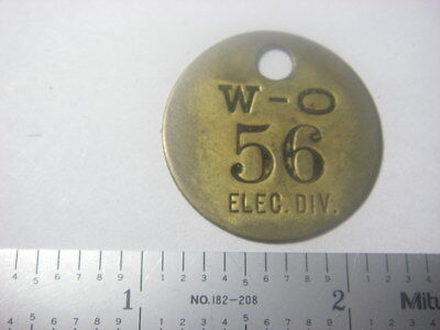 Willys-Overland Motors / Electric Div tool check tag